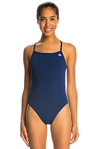 adidas Women's Infinitex + Solids Swimsuit, Navy, Sz 30