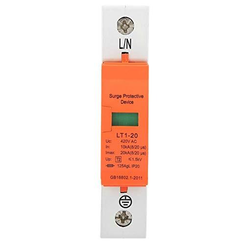 Überspannungsschutz, 1P 10kA-20kA 420vAC Hausüberspannungsschutz Niederspannungsschutzgerät für Blitzschutz der Stufen C und D.