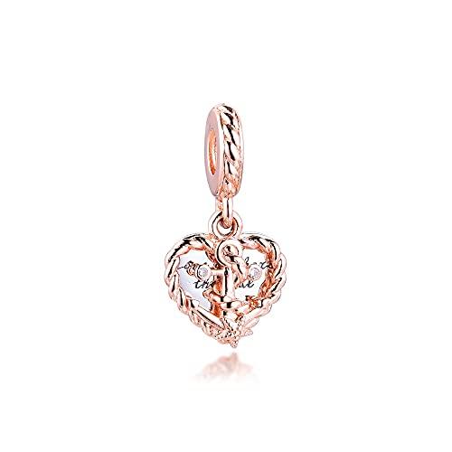 Auténtico Pandora 925 Colgante De Plata Esterlina Diy Cuerda Corazón Amor Encantos De Ancla Pulsera De Ajuste Original Perlas Para Hacer Joyas Regalo De Mujer
