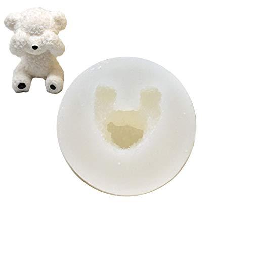Yushu Lindo 3D oso silicona jabón molde fondant pastel decoración herramientas azúcar hornear para la familia DIY herramientas