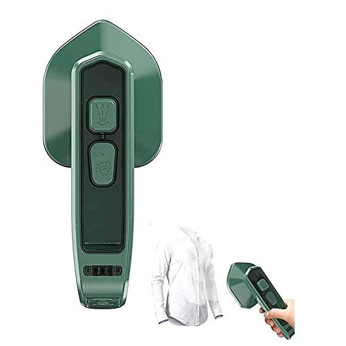 YUEBAOBEI Micro Plancha Vapor Profesional, Plancha Portátil En Uso Húmedo Y Seco, Mini Vaporizador Ropa Mano Portátil,100Ml Tanque Agua, Adecuado para El Hogar Y Los Viajes,Verde