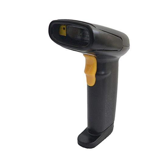 Scanners de codes à barres Scanner Bouton intelligent Effacer Bip rapide Applicable Appliquer à Express Avec récepteur USB pour le magasin Supermarché ( Couleur : Noir , Taille : Taille unique )