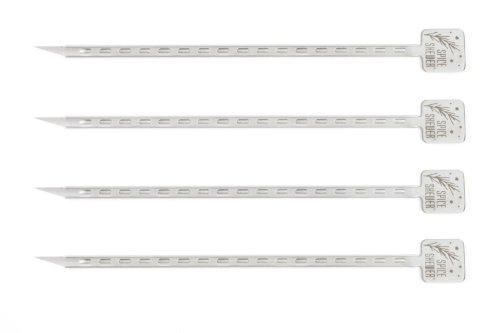 Charcoal Companion Pics à épices en Acier Inoxydable (Jeu de 4), Argent, 2,31x10,21x38 cm