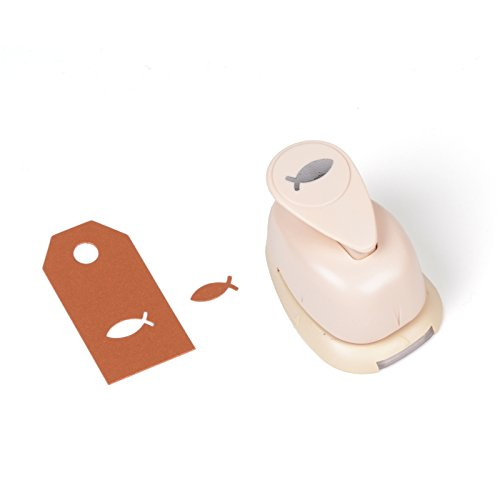 Rico Design Motivstanzer / Motivlocher - Papierstanzer zum Basteln mit Papier - DIY-Stanzer (Fisch 16mm)