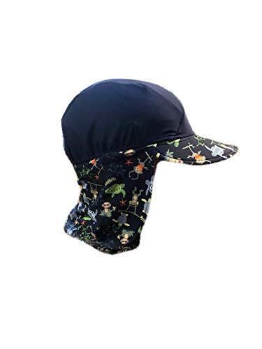 Banz Baby UV Flap S19FHNJM Hoed, Navy Jungle Mix, Medium