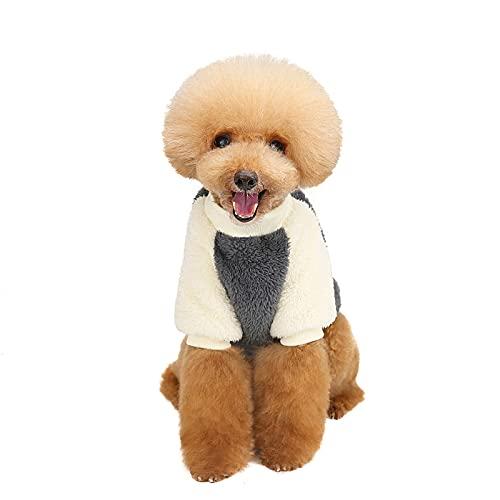 SINGFNH Chaleco de invierno para mascotas, abrigo cálido para mascotas con bolsillo, forro polar de doble capa para perros pequeños y medianos al aire libre