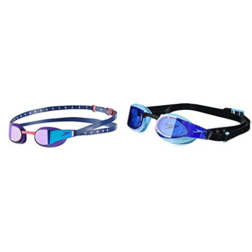 Speedo Fastskin Occhialini 3D Elite Mirror & Elite Gog Au Black/Blue Occhialini Da Nuoto, Unisex Adulto, Black/Blue Taglia Unica