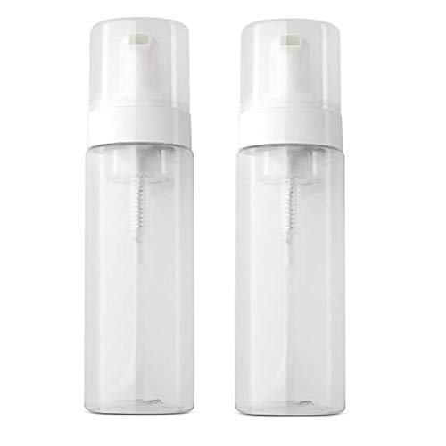 Lot de 2 flacons distributeurs de mousse vides en plastique transparent - 100 ml, transparent, 150ml, Tendance
