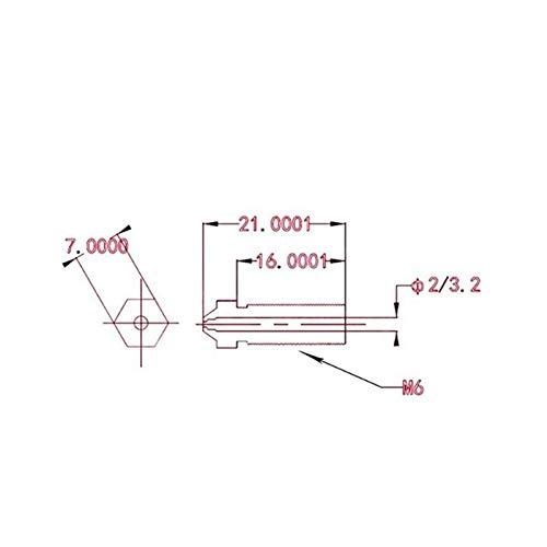 L-Yune,bolt 1pc V6 Volcano Ruby Nozzle 0.4mm Nozzles Compatible PETG ABS PET PEEK NYLON For 3D Printer Parts E3D Volcano Hotend 1.75mm Filament (Color : Ruby, Size : 0.4mm Nozzle)