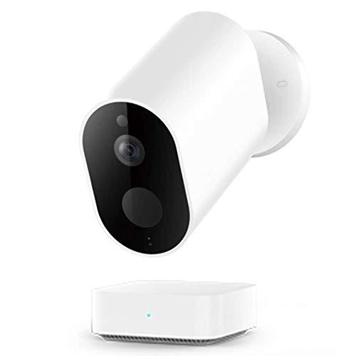 IMILAB Cámara HD EC2, WiFi inalámbrica 1080P seguridad en el hogar PIR IP65 impermeable al aire libre visión nocturna cámara de vigilancia con puerta de enlace (1 pieza con pasarela)