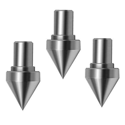 H HILABEE 3Piece 5/16inch Shank Woodworking Turning Live Bearing Tailstock Center