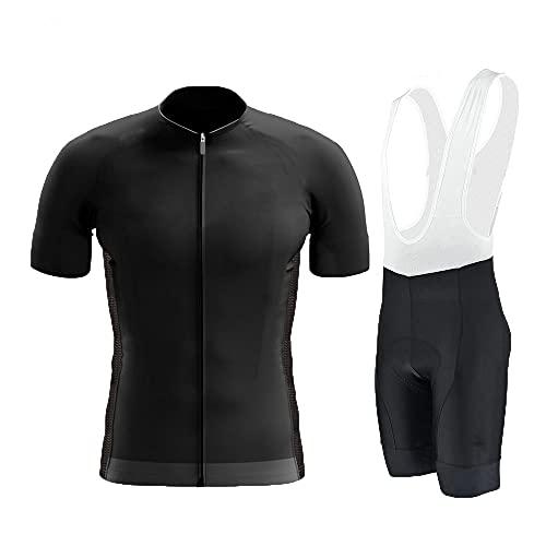HXTSWGS Ropa de Hombre Maillot de Ciclismo, Ropa de Ciclismo, Culotte con Tirantes de Bicicleta MTB Maillot de Maillot-Black_XS