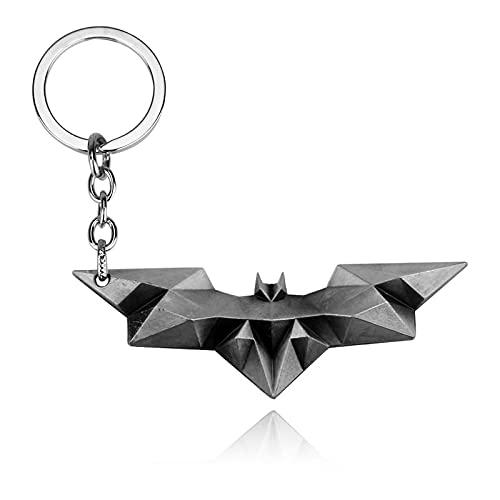 Batman Superman Llavero con Colgante Hombres Mujeres Llavero Bolsa Accesorios joyería Personalidad Llavero k120 Plata Antigua