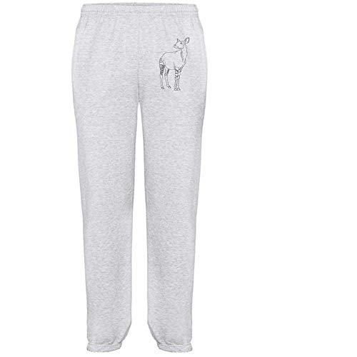 Azeeda Groß 'Okapi' Grau Joggeurs adultes / Pantalons de survêtement / Fonds (JO00100231)