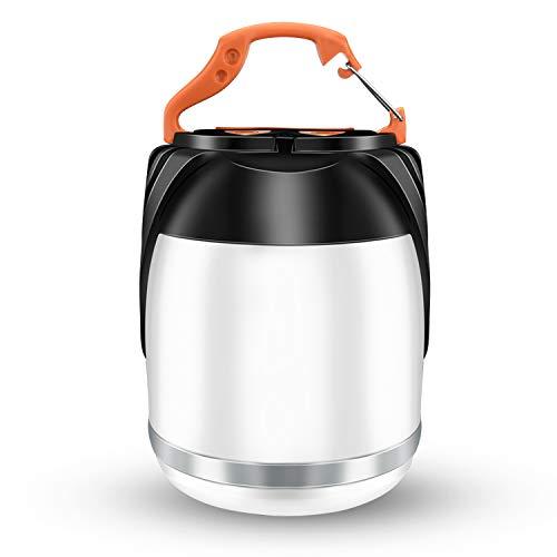 Odoland Lampe Camping Rechargeable Lanterne LED, Mini Lampe Torche de Secours pour Tente, Banque d'alimentation 3000mAh, 5 Modes d'éclairage pour Randonnée, Bricolage, Pêche, avec Câble USB