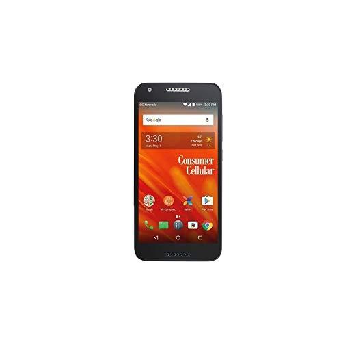 1 x Consumer Cellular Alcatel Kora Screen Protector Guard CLEAR PRE-CUT No Cutting Require Perfect Fit + EXTREME BRAND (1 x Clear Screen Protector)