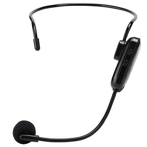 Microphone Serre-tête sans Fil, UHF Micro-casque Contour d Oreille Professionnel et Micros, avec Convertisseur de 3.5mm & 6.5mm, pour Enseignement, Guides Touristiques, Présentations, Conférences