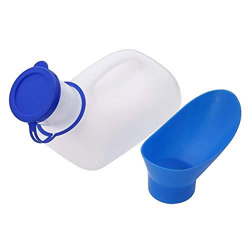 JHKGY Unisex Potty Urinal voor auto, Toliet Urinal voor mannen en vrouwen, Bedpannen Pee Bottle, met een deksel en trechter, plastic blik voor auto, oude man, kind en diabetes voor Camping Outdoor Travel