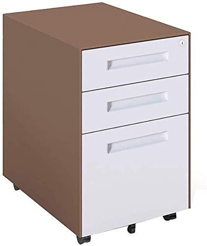 Opbergsystemen Maximale statische belastbaarheid met drie schuifladenkast verschillende documenten hele middag briefpapier Tray Steel (40,7 x 52 x 60 cm) kantoorbenodigdheden schrijfwaren C