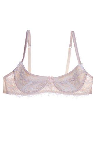 Mimi Holliday Bisou Frost White Lace& Silk Balcony Bra 36D