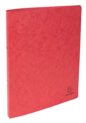 Exacompta 54255E Ringbuch (Manila-Karton, 400g, 2 Ringe, Rücken 20 mm, DIN A4) 1 Stück rot