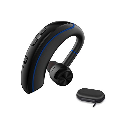 Bluetooth Headset Best Truckers Wireless Business Earpiece with 12 Hours Talktime Mic HandsFree Noise Cancelling Stereo Earphones Compatible Android Cell Phone for Driving/Office/Skype