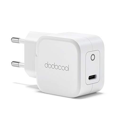 dodocool Cargador USB, 20W Mini Cargador PD, Quick Charge, Cargador Móvil Rápido Compatible con iPhone 12/12 Mini/12 Pro/12 Pro MAX iPad AirPods Pro iPad Samsung Google Cargador
