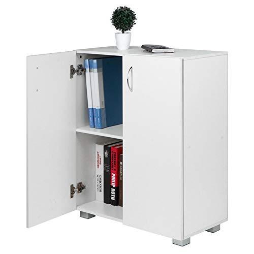 Archivador Blanco 23.6x12.4x28.0in Gabinete de oficina Gabinete de madera para oficina en casa