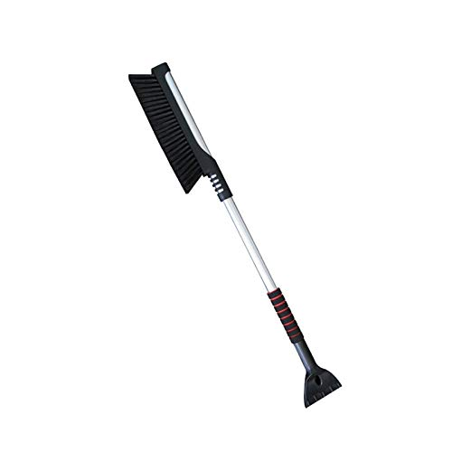 Car Snow Removal Brush, 2 In 1 Car Windshield Snow Removal Brush, Retractable Ice Scraper, Long Handle, Detachable Snow Removal Agent, Windshield Scraper Frost Deicing Agent For Cars, SUVs, Trucks