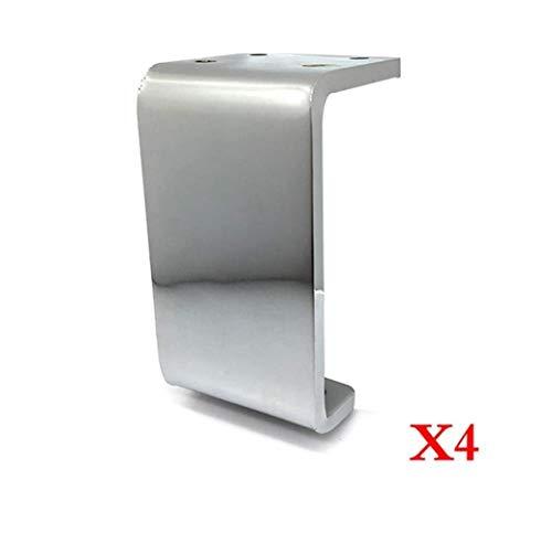 RXL Stabile Tisch- und Stuhlfüße, 10 cm, Bettbeine, Metall, Sofa-Beine, TV-Schrankfüße, Möbel-Unterstützung, Metallfüße