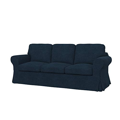 Soferia Funda de Repuesto para IKEA EKTORP PIXBO sofá Cama de 3 plazas, Tela Strong Denim, Azul