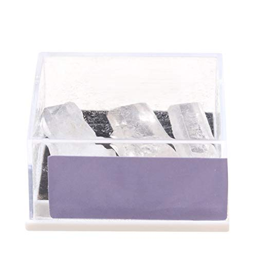 1 låda packad naturlig grov malm rå ädelsten quartz kristall mineralprov energi stenar samlar smycken som gör heminredning (Color : Quartz point)
