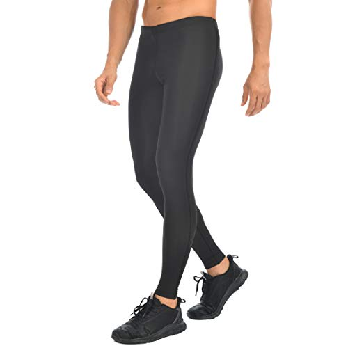 qualidyne Men#039s Running Tights Cycling Pants Outdoor Athletic Workout Compression Training Tights Black