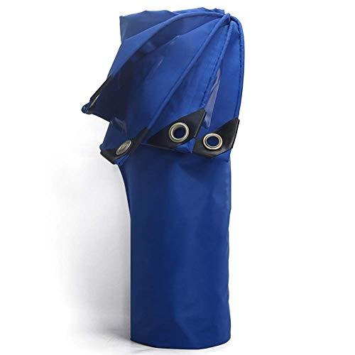 Uitstapje Udstyr, blauw dekzeil PVC regendichte coating, dekzeil geschikt voor huizen, tuinen, buiten, campingauto's overdekt zwembad vochtbestendig zonnebrandcrème, 420G / M2, Kejing Miao 3x5m
