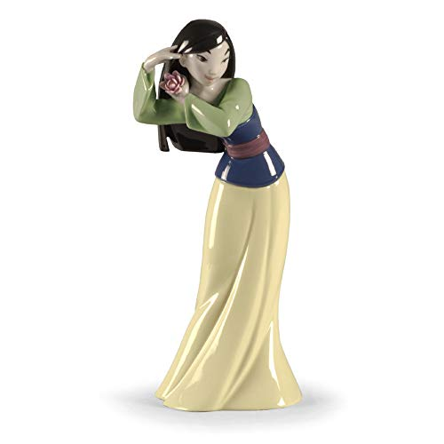 LLADRÓ Figura Mulan. Figura Mulán Princesa (Disney) de Porcelana.