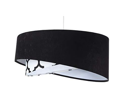BPS Koncept Galaxy E27 Morocco - Lámpara de techo (diámetro: 50 cm), color negro y blanco