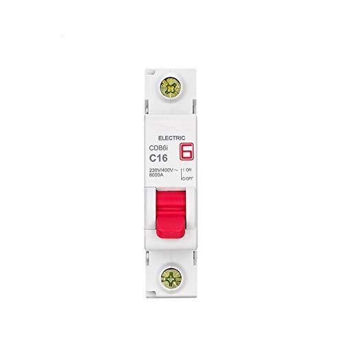 LUOXUEFEI Disyuntor Diferencial Interruptor Disyuntor 1P 230 400V 1A 2A 3A 6A 10A 16A 20A 25A 32A 40A 50A 63A 50Hz