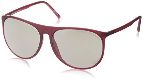 Porsche Design Sonnenbrille P8596 C 58 15 140 Oval Sonnenbrille 58, Rot