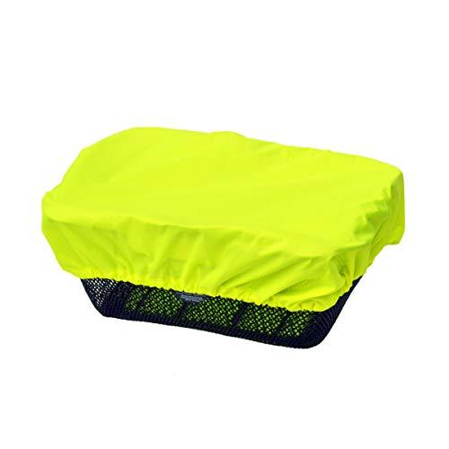 NICE'n'DRY Korbabdeckung wasserdicht - Überzug für Fahrradkorb - Regenschutz-Abdeckung - Regenüberzug Korb mit Gummizug, Neongelb