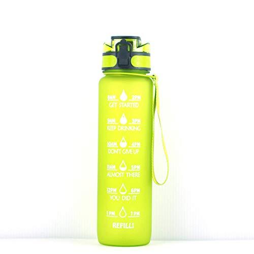 Ctatvf Botella de Agua inspiradora, con Sello de Tiempo, Botella de Agua sin BPA a Prueba de Fugas, para garantizar Que beba Suficiente Agua Todos los días, Adecuada para Deportes al Aire Libre
