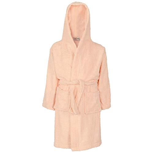 A2Z 4 Kids Unisex Filles Garçons Gown Coton À Capuchon - Towel Bathrobe Baby Pink 11-12