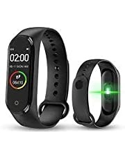 Digibuff M4 Smart Band Bluetooth Waterproof Heart Rate Monitor Smart Screen/Bracelet/Fitness Tracker (Black, Free Size)