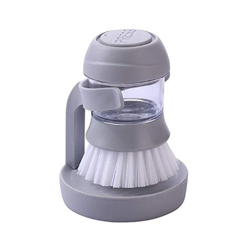 Bermnn Cleaning Supplies Pressure Washing Pot Brush, Cleaning Brush That Can Hold Detergent, Multifunctional Kitchen Cleaning Brush, Household Plastic Cleaning Brush, Best Gift for Friends and Family