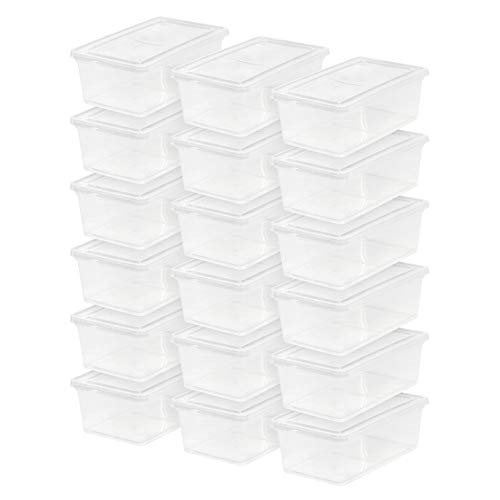 IRIS USA CNL-6 Clear non-latching box, 6 Qt, 18 Count