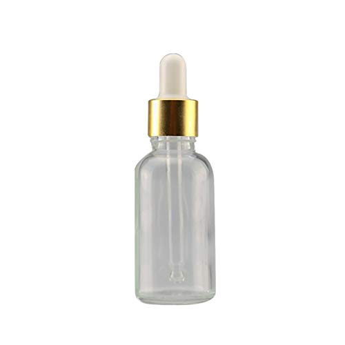 shyymaoyi Mini 5ml-100ml Transparente Glasreagenz-Flüssigpipette Leere Kosmetikflasche 50ml Transparent + Golden + Weiß