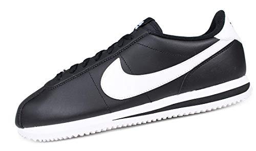 NIKE Cortez Basic Leather 819719-012 Herren Schuhe, Schwarz (schwarz/weiß-metallic silber), 41 EU