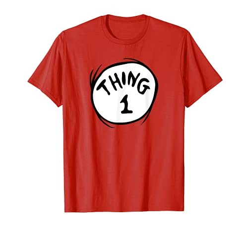 Dr. Seuss Thing 1 Emblem RED T-shirt T-Shirt