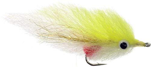 ViaJay Peanut Bunker Fly, Fishing, Trolling (Chartreuse & White, 2/0 3 Pack)