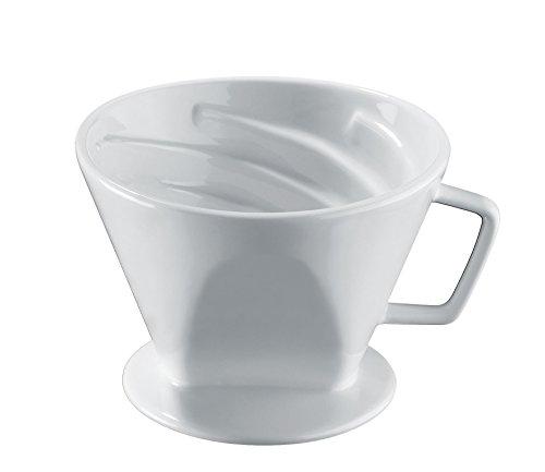 Cilio Kaffeefilter Vienna, Gr.4, Porzellan, weiß, 14 x 14 x 11 cm