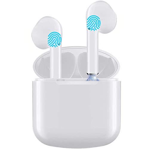 Auriculares inalámbricos, Auriculares Bluetooth 5.0 con Control táctil con micrófono de reducción de Ruido, Tiempo de reproducción de 30 Horas, estéreo Hi-Fi inalámbrico Impermeable